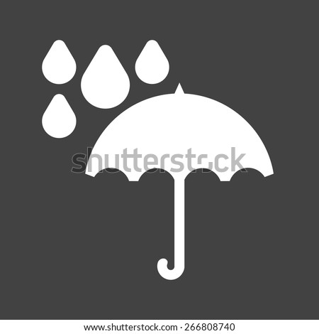Umbrella, rain, rainy, drops icon vector image. Can also be used for weather, forecast, season, climate, meteorology. Suitable for web apps, mobile apps and print media.