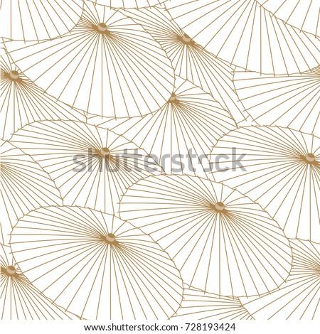 umbrella seamless pattern in