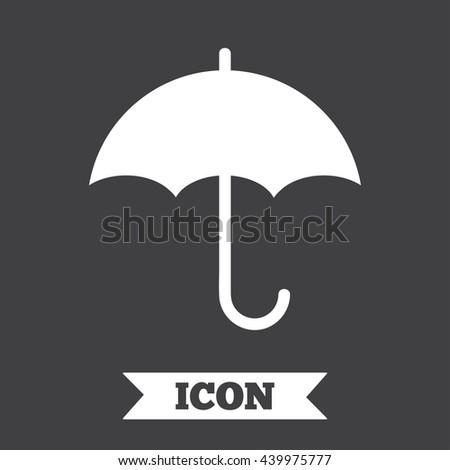 umbrella sign icon rain