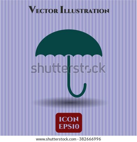 Umbrella vector icon or symbol