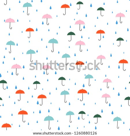 Umbrellas - colorful seamless pattern