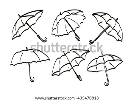 umbrellas in different angles