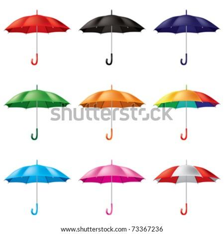 umbrellas in different colours