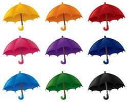 Umbrellas in various colors.