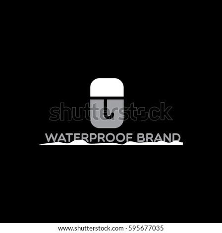 umrella vector logo design