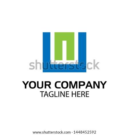 UN logo template, UN letter, flat design. vector