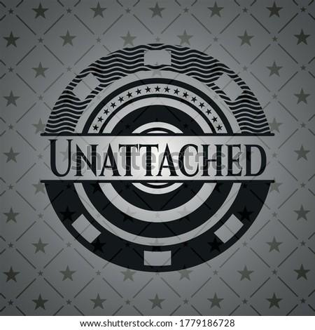 Unattached dark emblem. Vector Illustration. Detailed.  Stockfoto ©