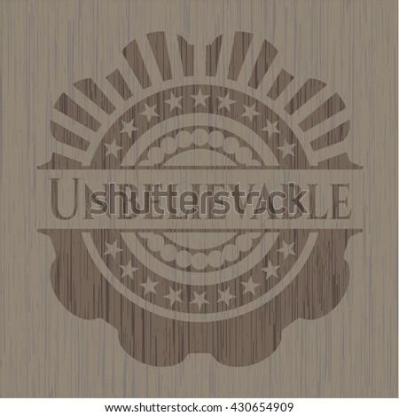 Unbelievable retro wood emblem