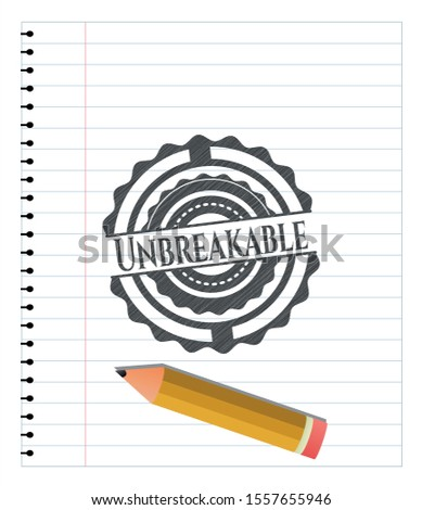 Unbreakable draw with pencil effect. Vector Illustration. Detailed. Stock photo ©