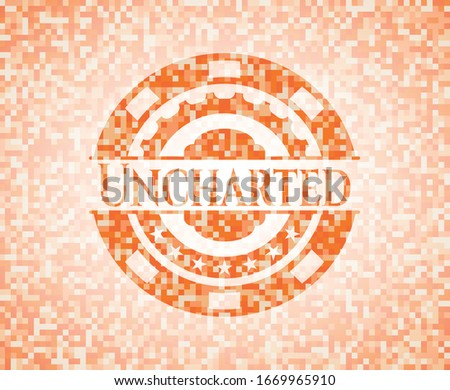 uncharted abstract orange