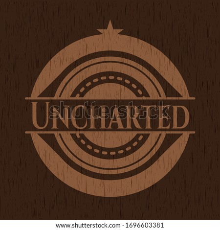 uncharted badge with wood