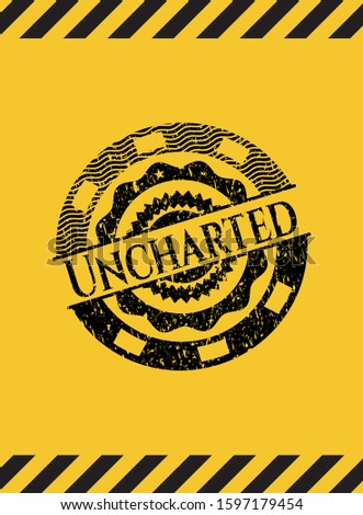 uncharted black grunge emblem