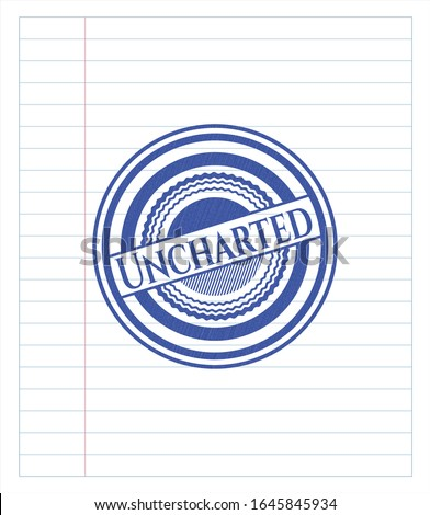 uncharted blue ink pen emblem