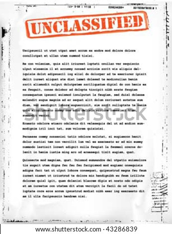 unclassified document template