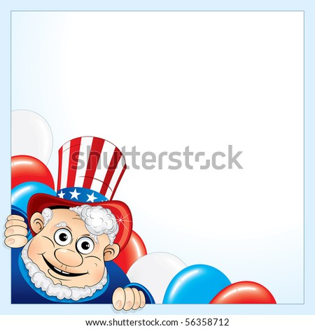 Uncle Sam background for your text