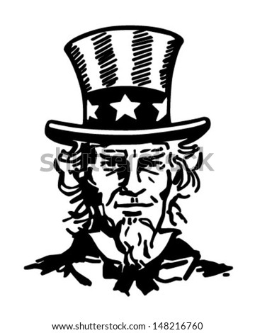 Uncle Sam 2 - Retro Clip Art Illustration