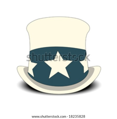 uncle sam's hat on white background