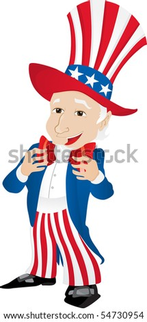 Uncle Sam United States of America. Editable Vector Illustration