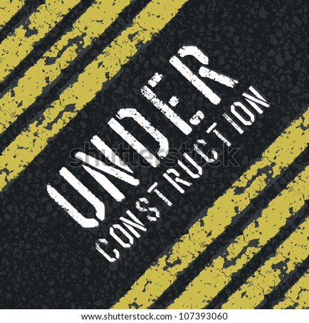 Under construction abstract sign. Vector, EPS8