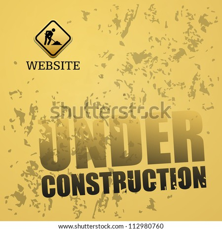 Under construction abstract vector illustration