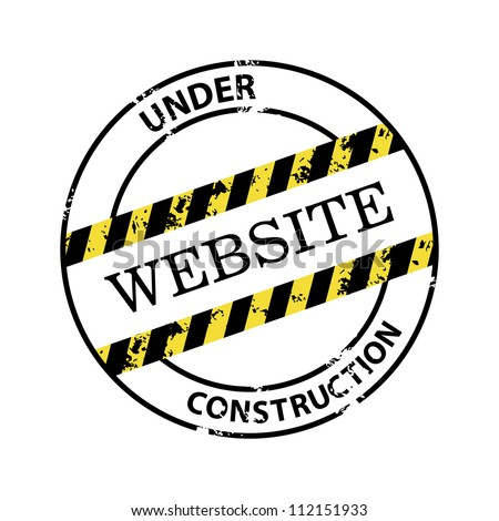 Under construction abstract vector stamp
