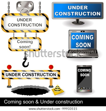 Under construction and coming soon collection