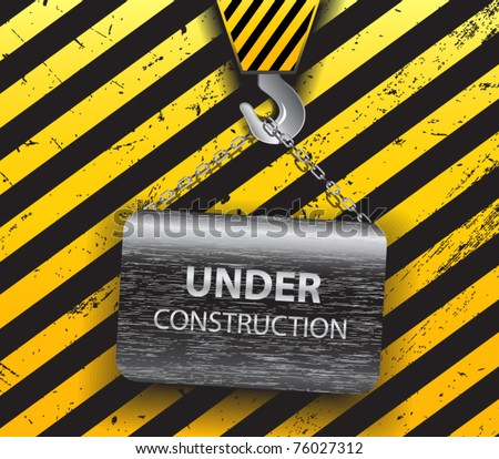 Under construction background-vector