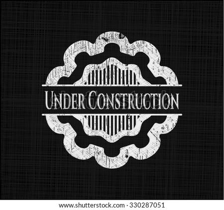 Under Construction chalk emblem