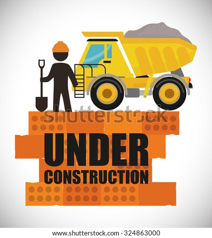 under construction concept with