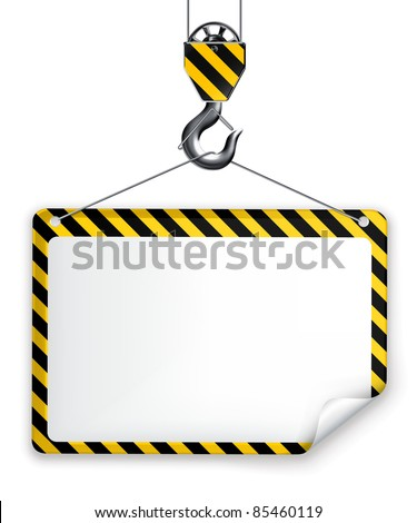 Under construction frame, vector - stock vector