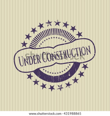 Under Construction grunge seal