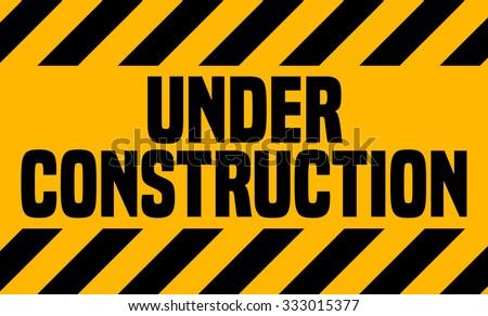 Under Construction Industrial Sign, Vector Illustration.