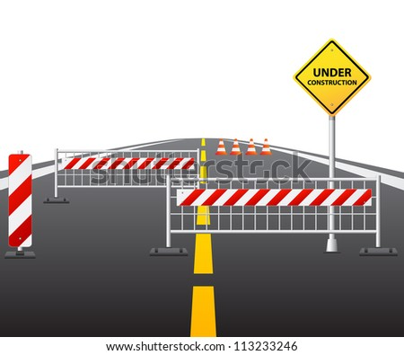 Under construction of road 3d