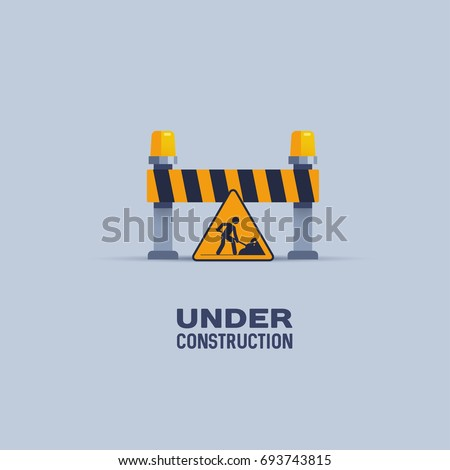 under construction page, isolated vector illustration.