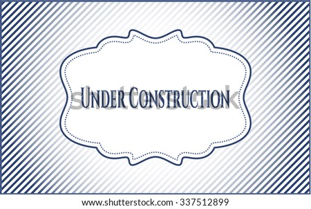 Under Construction poster or card