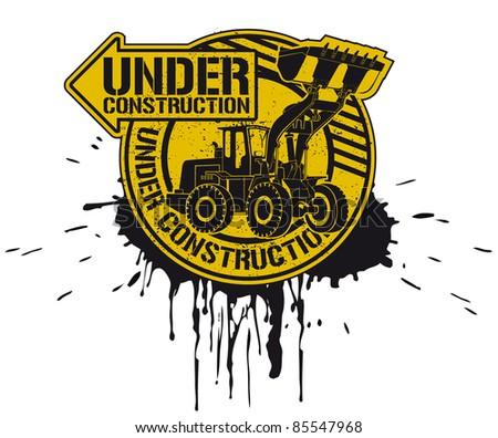 Under construction stamp