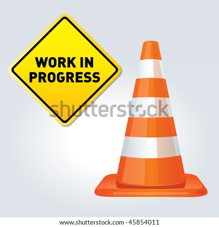 Under construction traffic cone