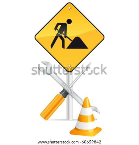 under construction vector icons