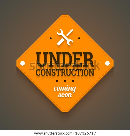 under construction with coming