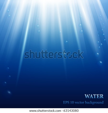 under water eps 10 vector background