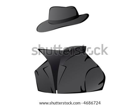 Undercover agent. Vector illustration.