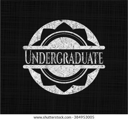 Undergraduate on chalkboard