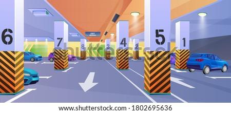 underground car parking vector