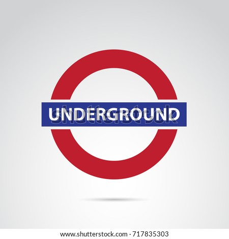Underground icon isolated on white background. Vector illustration.