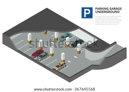 underground parking with cars