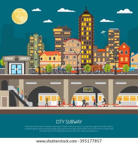 underground poster of cityscape