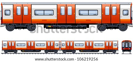 Metro Train Stock Vectors Clipart and Illustrations
