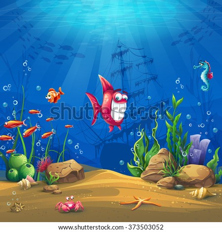 undersea with fish marine life
