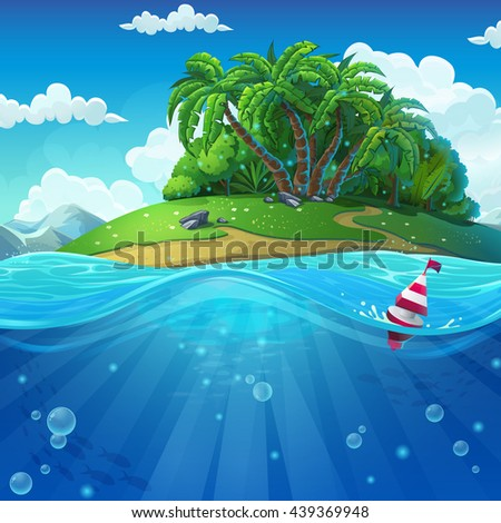 undersea with island marine