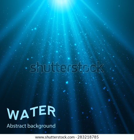 underwater abstract blue shine